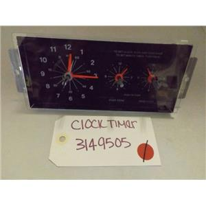 WHIRLPOOL STOVE 3149505 CLOCK TIMER USED