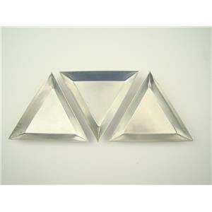 Set of 3 Triangular Aluminum Gold Trays-Boats-Beads Fill vials & Weigh