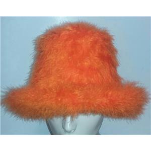 Orange Marabou Feather Foam Costume Top Hat