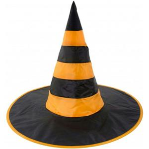 Orange and Black Nylon Witch Hat