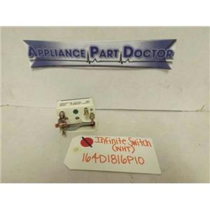 WHIRLPOOL STOVE 164D1816P10 INFINITE SWITCH (WHT) 7.5-9.3A 240V USED