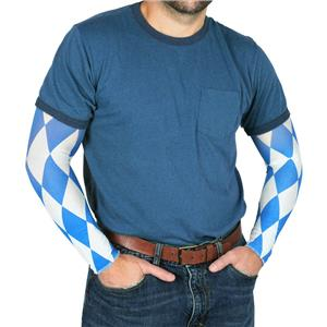 Oktoberfest Blue and White Party Sleeves Halloween Costume Accessory
