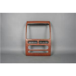 2007 Ford Edge Center Dash Radio Climate Bezel w/ Aftermarket Woodgrain Adhesive
