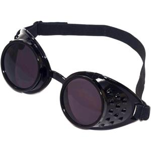 Adult Steampunk Industrial Science Fiction Victorian Black Aviator Goggles