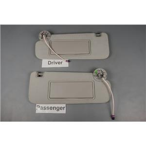2014-18 Chevrolet Impala Sun Visor Set with Covered Lighted Mirrors Adjust Bars