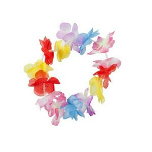 Multi-Colored Hawaiian Flower Stretchy Lei Costume Accessory Headband