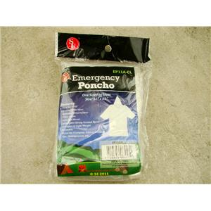 Emergency Poncho, Attached Hood, Adjustable String, Reusable, Camping, Hiking