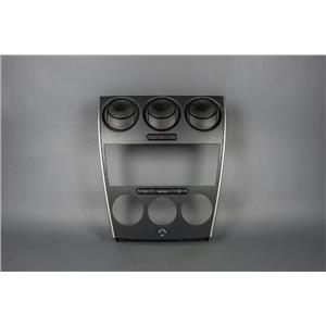 06-08 Mazda6 Center Dash Radio Climate Bezel w/ Vents Haz Switch & AC Controls