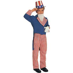 Rubie's Boy's Deluxe Uncle Sam Patriotic July 4th Child Costume Size Large 12-14