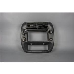 2000 Ford Ranger Center Dash Radio Climate Bezel w/ 4WD, 12v outlet, fog switch