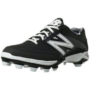 New Balance Men's P4040 TPU Molded Low Baseball Shoe,black,15 D US