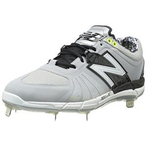 New Balance Men's L3000v2 Metal Low Baseball Shoe, grey/black, 15 D US