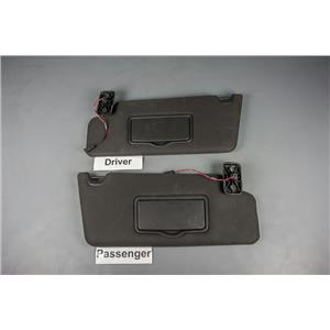 2009-2014 Ford F150 Sun Visor Set with Adjustable Arm Bars and Garage Remote