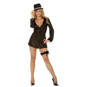 Elegant Moments Women's Sexy Gold Digger Gangster Girl Adult Costume Medium 6-10