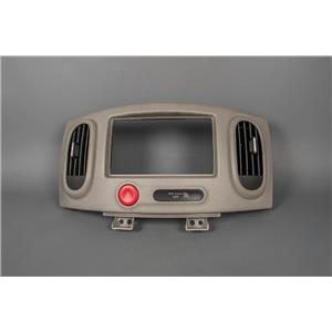 Radio Climate Dash Trim Bezel 2009-2014 Nissan Cube with Vents Hazard Switch