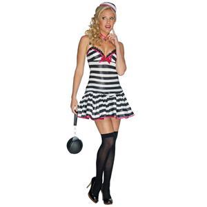 Secret Wishes Convicted Cutie Sexy Inmate Prisoner Women's Costume Size XS 0-2