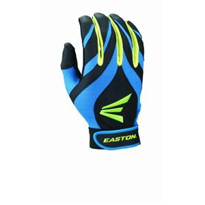 Easton Youth Synergy II Fastpitch Batting Gloves, Blue/Green/Black, Large