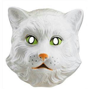 Forum Novelties White Kitty Cat Plastic Costume Mask