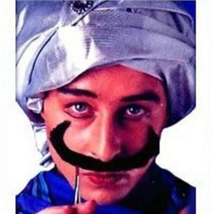 Black Swami Mustache Self Adhering Facial Hair Disguise