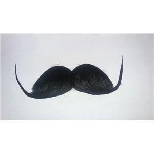 Black Handlebar Barber Schnappy English Gentleman Moustache Costume Accessory
