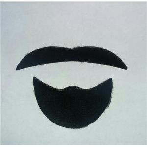 Black Sheik Mustache Facial Hair Disguise