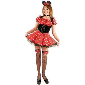 Charades Women's Sexy Little Miss Mouse Minnie Adult Costume Size Large 11-13