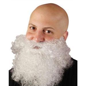Fun World White Big & Curly Bushy Mustache and Beard Facial Hair Set