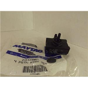 MAYTAG WHIRLPOOL WASHER 22003961 4 POS ROTARY TEMP SWITCH NEW