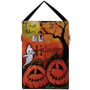 Friendly Ghost and Pumpkins Halloween Countdown Calendar Wall Decor Prop