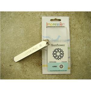 """Sunflower"" Plant Nature 6mm-Large Stamp-Metal-Hardened Steel-Gold & Silver Bar"