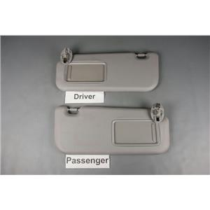 2007-2010 Toyota Yaris Sun Visor Set with Covered Mirrors
