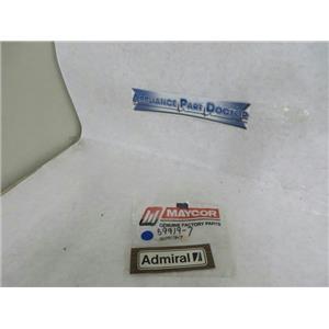 MAYTAG WHIRLPOOL REFRIGERATOR 59919-7 INSERT LOGO (WOOD) NEW