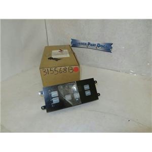AMANA MAYTAG STOVE 315568B CLEAN CLOCK W/ OVERLAY (BLK) NEW