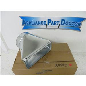 MAYTAG WHIRLPOOL STOVE 701945    6-3 1/4X10 T GALVANIZED REGISTER BOOT NEW