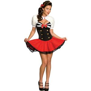 Secret Wishes Naval Pin-Up Sexy Sailor Adult Women's Costume Size Small 2-6
