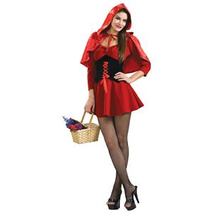 Secret Wishes Sexy Red Black Little Red Riding Hood Adult Costume Medium 10-12