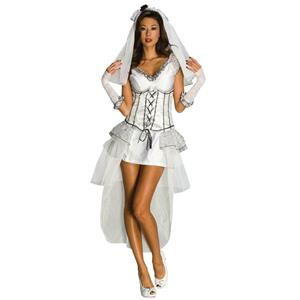 Secret Wishes Deluxe Gothic Mistress Monster Bride Women's Costume Medium 6-10