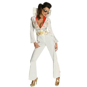 Secret Wishes Sexy Adult Elvis Ladies Jumpsuit Costume Size XS 0-2