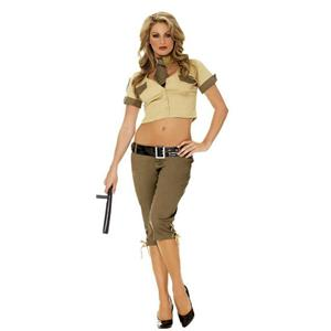 Elegant Moments Womens Highway Hottie Patrol Sexy Adult Ladies Costume Small 2-6