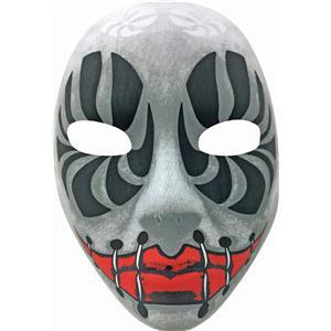 Evil Eyes Black and White Creepy Death Clown Stitches Mask Forum Novelties