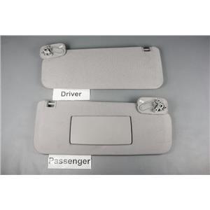 2007-2017 Chevrolet Silverado Sierra Sun Visor Set Pair Passenger Covered Mirror