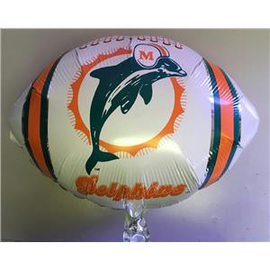"Classic Miami Dolphins Football 18"" Foil Balloon"