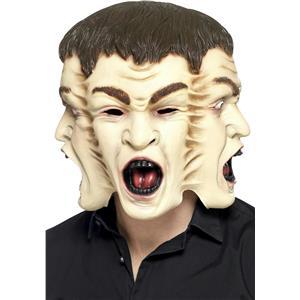 Smiffy's Overhead 3 Face Horror Adult Costume Mask