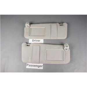 2009-2014 Toyota Venza Sun Visor Set with Covered Lighted Mirrors & Straps