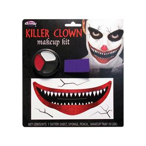 Evil Killer Clown Big Mouth Makeup Kit