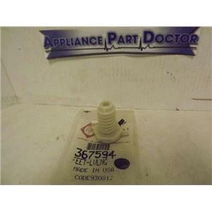 WHIRLPOOL KENMORE WASHER 367594 LEVELING LEG, FRONT NEW