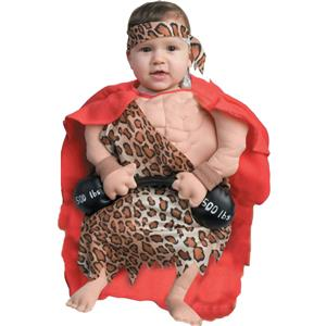 Funny Infant Mini Strong Muscle Man Baby Boy Bunting Costume 0-6 months