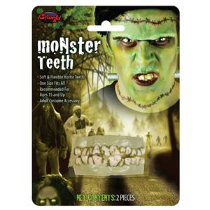 Soft Flexible Monster Zombie Character Top and Bottom Teeth Costume Accessory