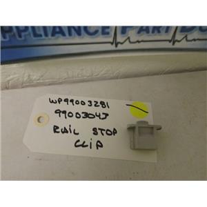 MAYTAG AMANA DISHWASHER WP99003281 99003043 RAIL STOP CLIP USED