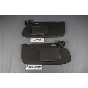 2010-2014 Ford Taurus Sun Visor Set Pair Covered Mirror Adjust Bar